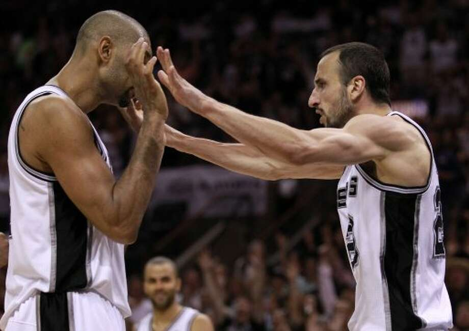 How much will Tim Duncan and Manu Ginobili maintain?As the wise philosopher Charles Barkley once noted, Father Time is undefeated. If so, Duncan and Ginobili have at least taken the old man to overtime.Duncan continues to defy age and logic, averaging virtually the same numbers per 36 minutes last season as he did 15 years ago during his rookie campaign. At least one measure also indicates he was the league's most impactful defensive player.Ginobili broke down (again), but he had one of the better seasons of his career – albeit an extremely short one – and looked fantastic in the Olympics.In short, both remain among the best players in the league. But there has to be more than a little apprehension at relying so heavily on two players in the latter half of their 30s. (Ronald Martinez / Getty Images)