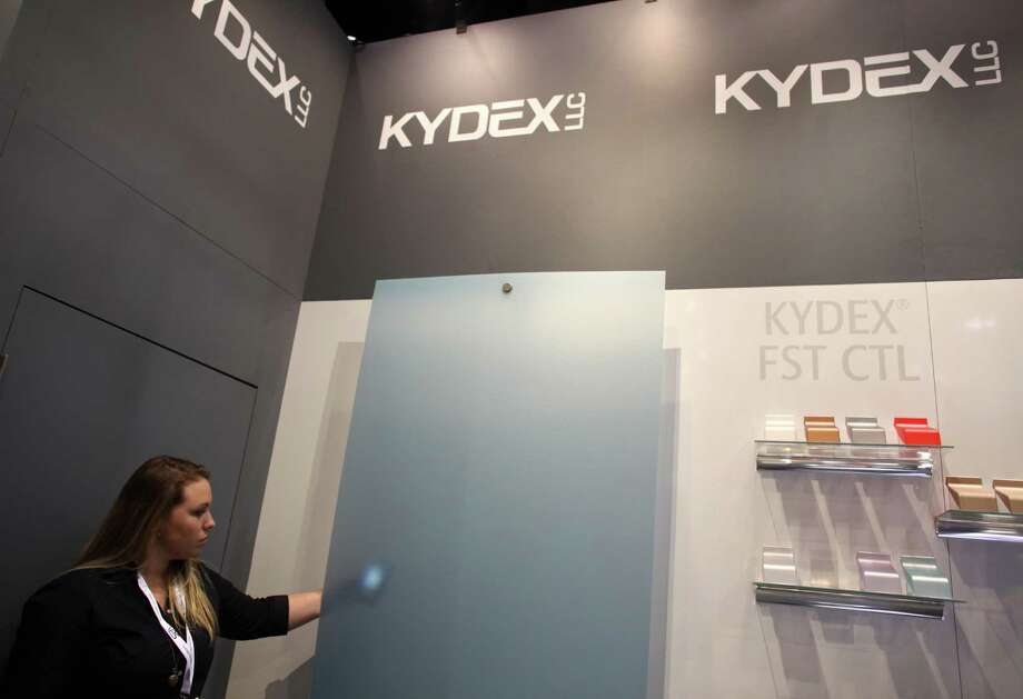 A translucent thermoplastic by Kydex is shown by Emily Gregorowicz. Photo: JOSHUA TRUJILLO / SEATTLEPI.COM