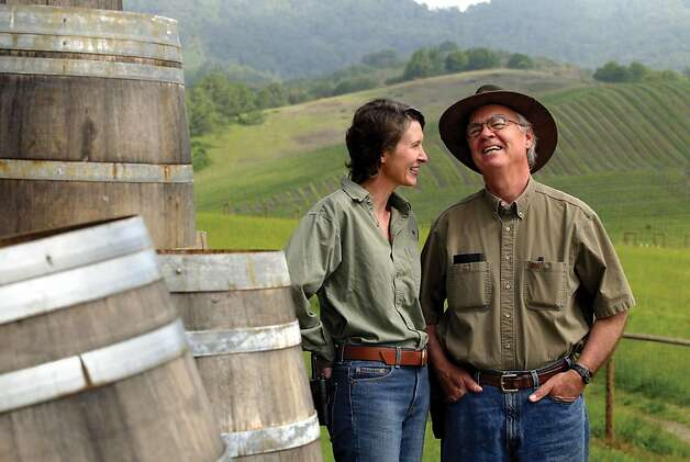 Earl and Hilda Jones of Abacela Winery in Roseburg, Ore. Photo: Jackie Johnston