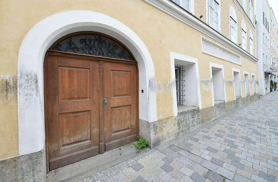 The building where Adolf Hitler was born is a point of debate in the town of Braunau. Photo: Kerstin Joensson, Associated Press