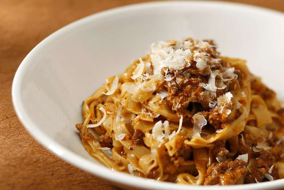 Bolognese With Egg Noodles Photo: Craig Lee, Special To The Chronicle
