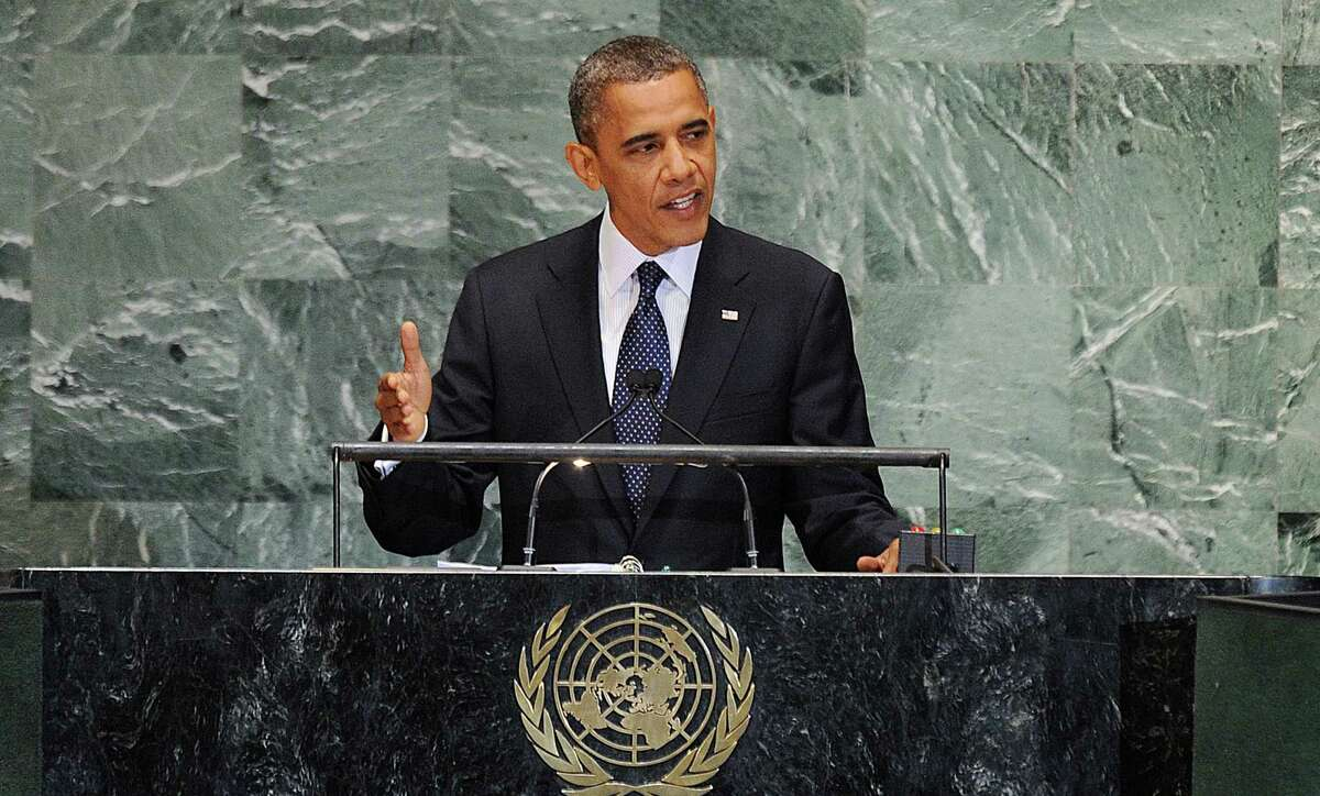 U.S. President Barack Obama speaks at the United Nations General Assembly September 25, 2012 in New York. (Olivier Douliery/Abaca Press/MCT)