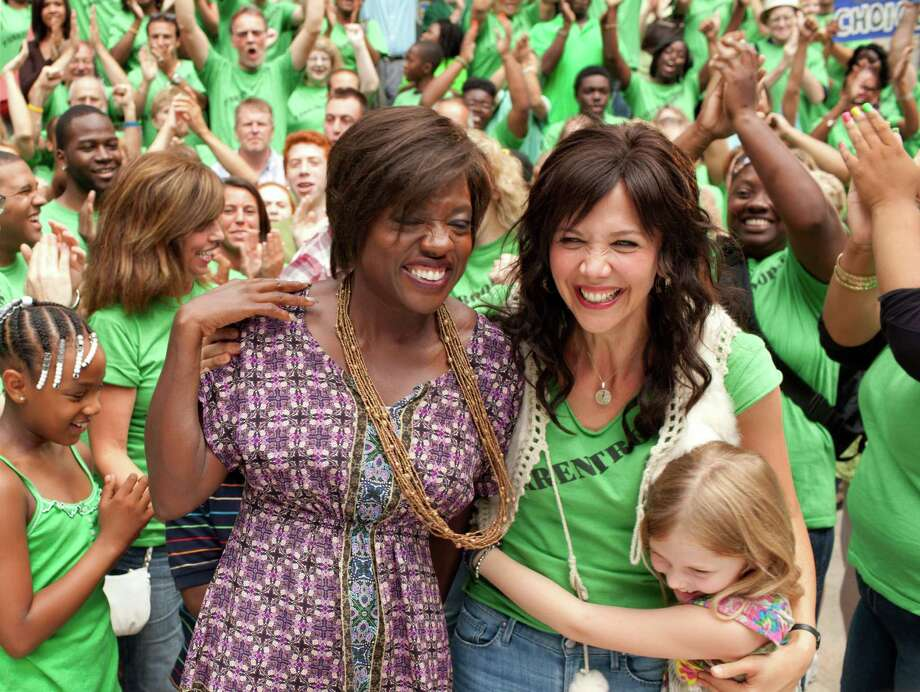 "This film image released by 20th Century Fox shows Maggie Gyllenhaal, right, and Viola Davis in a scene from ""Won't Back Down.""  (AP Photo/20th Century Fox, Kerry Hayes) Photo: Kerry Hayes / 20th Century Fox"