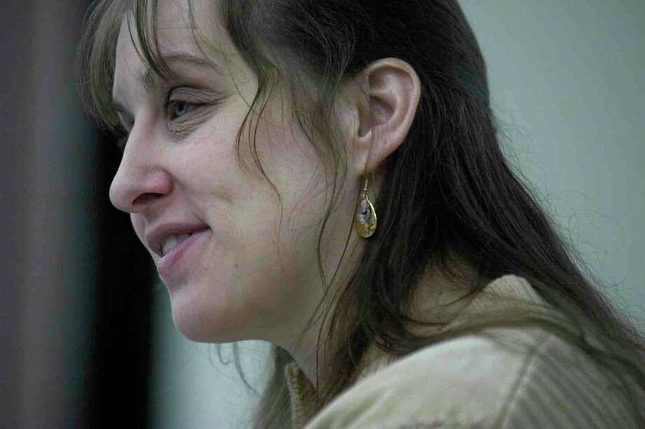 Constance Laymon talks to students in The Drama of Disability class at the University at Albany in this 2005 photo.  (Paul Buckowski / Times Union archive) Photo: Paul Buckowski