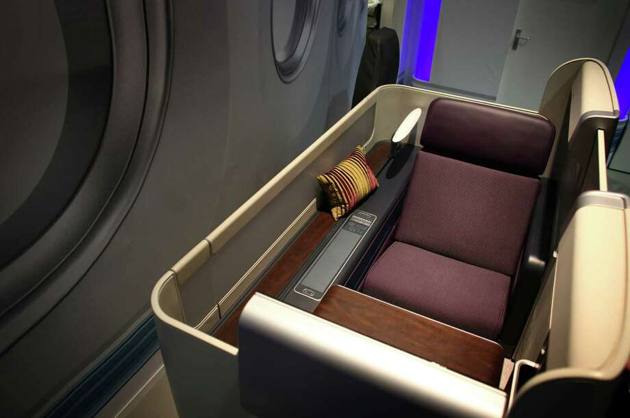 A private seating area from Zodiac Aerospace is shown. Photo: JOSHUA TRUJILLO / SEATTLEPI.COM