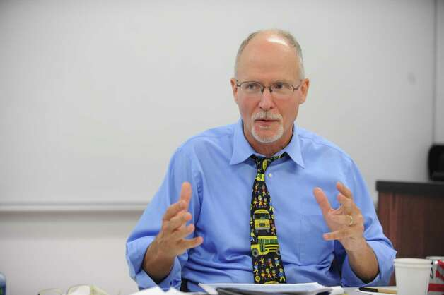 Paul Vallas, interim superintendent, gives his report to the newly reconstituted Bridgeport Board of Education Thursday, Sept. 27, 2012 during a day long retreat hosted by Sacred Heart University off campus at their Cambridge Building in Trumbull. Photo: Autumn Driscoll / Connecticut Post