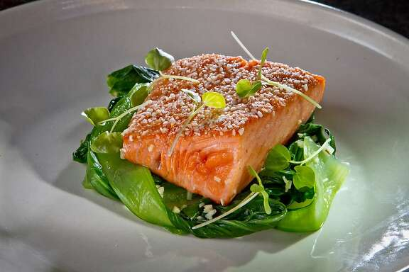 Salmon with Buckwheat and Bok Choy at Rich Table in San Francisco is seen on Wednesday, September 19th, 2012.