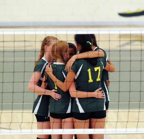 Greenwich Academy during the girls high school volleyball match between Greenwich Academy and King at Greenwich, Thursday, Sept. 27, 2012. Photo: Bob Luckey / Greenwich Time