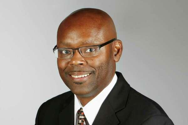 Jerome Solomon, sports columnist for the Houston Chronicle, is  photographed in the Houston Chronicle Studio on Thursday, Sept. 13, 2012, in Houston. ( Mayra Beltran / Houston Chronicle )