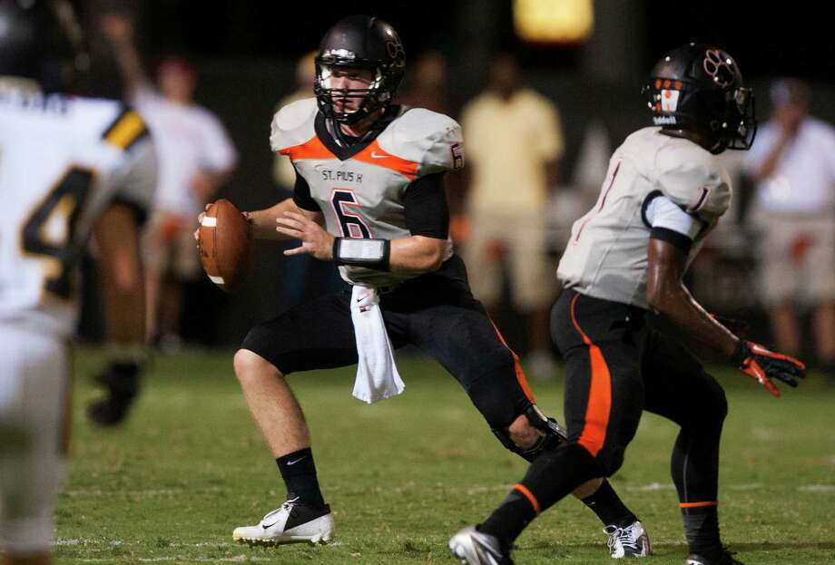 St. Pius quarterback Kohl Stewart has had his way on the field so far this season, but the Panthers will be tested Friday by Class 3A power La Marque. Photo: J. Patric Schneider / © 2012 Houston Chronicle