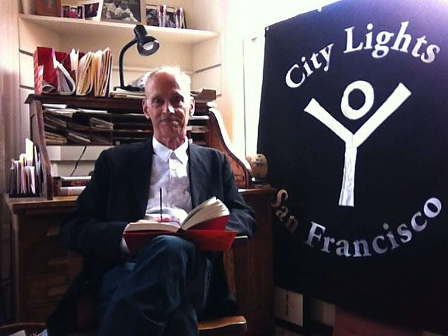 "John Waters reads from ""Lady Chatterley's Lover"" by D.H. Lawrence in the Banned Books Virtual Readout at City Lights. Photo: Stacey Lewis"
