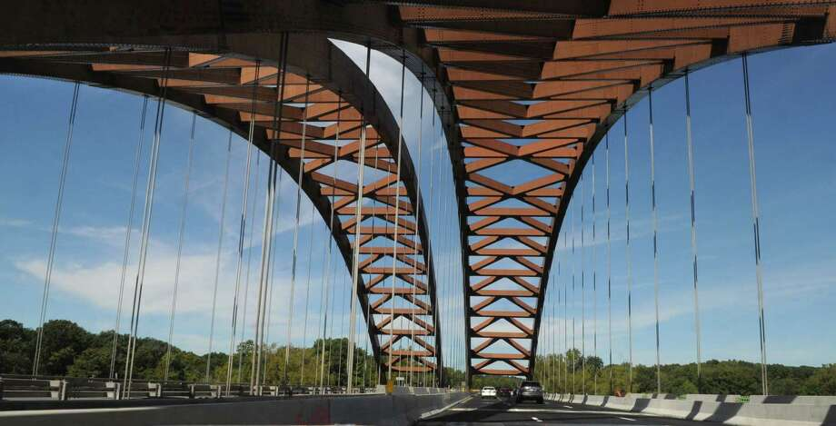 Thaddeus Kosciuszko Bridge viewed from the northbound lanes of the Northway in Colonie, N.Y., Tuesday Sept. 11, 2012. Roadwork on the northbound side of the Twin Bridges is scheduled to take place over the course of up to six weekends. The southbound deck will be replaced in the spring. (Will Waldron / Times Union) Photo: Will Waldron