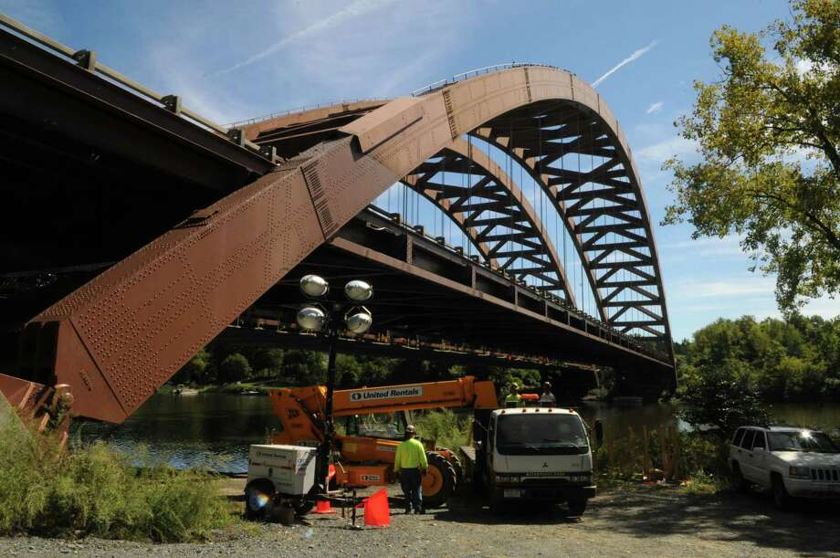 Thaddeus Kosciuszko Bridge viewed from Towpath Road in Halfmoon, N.Y., Tuesday Sept. 11, 2012. Roadwork on the northbound side of the Twin Bridges is scheduled to be completeed this weekend. The southbound deck will be replaced in the spring. (Will Waldron / Times Union archive) Photo: Will Waldron