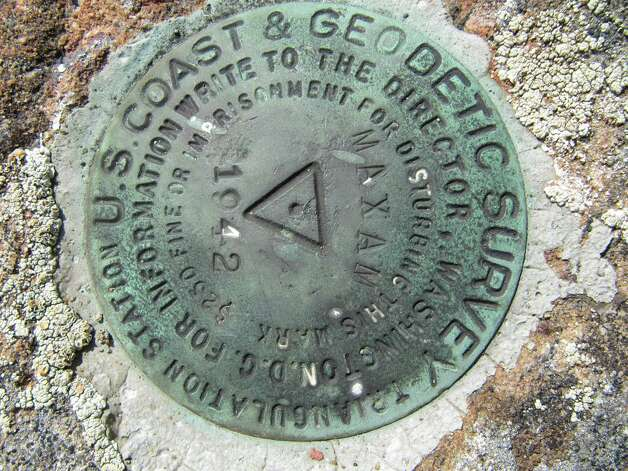 Photo by Gillian Scott   One of the summit bolts on Moxham Mountain.