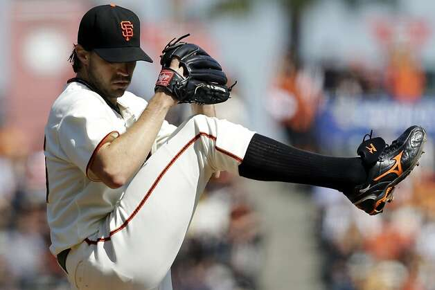 San Francisco Giants starting pitcher Barry Zito throws to the Arizona Diamondbacks during the first inning of a baseball game, Thursday, Sept. 27, 2012, in San Francisco. (AP Photo/Marcio Jose Sanchez) Photo: Marcio Jose Sanchez, Associated Press