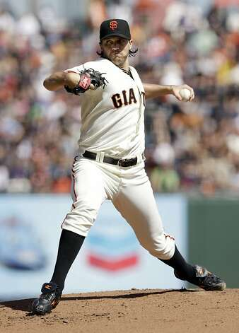 San Francisco Giants starting pitcher Barry Zito throws to the Arizona Diamondbacks during the first inning of a baseball game Thursday, Sept. 27, 2012, in San Francisco. (AP Photo/Marcio Jose Sanchez) Photo: Marcio Jose Sanchez, Associated Press
