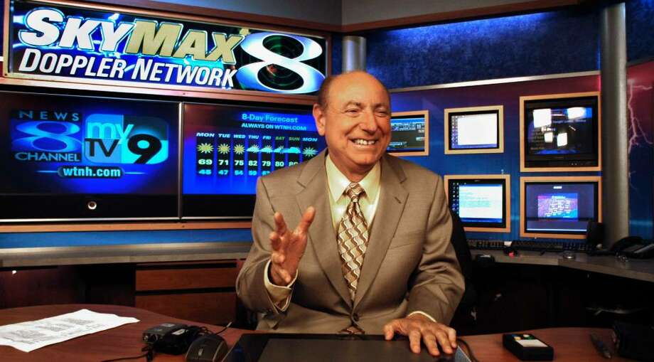 FILE PHOTO of Dr. Mel Goldstein in the Weather Center at Channel 8 and My TV 9 in New Haven. Photo: Michael Duffy / The News-Times