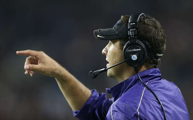 SEATTLE, WA - SEPTEMBER 27:  Head coach Steve Sarkisian of the Washington Huskies looks on during the game against the Stanford Cardinal on September 27, 2012 at CenturyLink Field in Seattle, Washington. Washington defeated Stanford 17-13.  (Photo by Otto Greule Jr/Getty Images) Photo: Otto Greule Jr, Getty Images