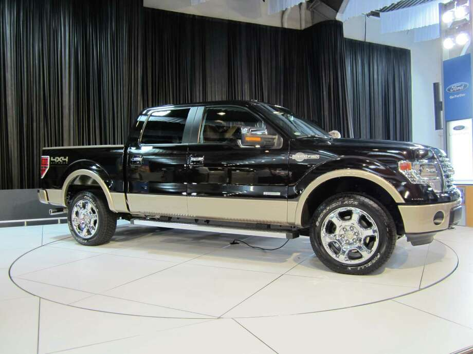 A 2013 Ford F-150 Kind Ranch truck is seen on Thursday, Sept. 27, 2012, at the State Fair of Texas auto show in Dallas. The Ford Motor Co. and Kingsville ranch have partnered since 2000 to release special editions of Ford's F-Series. Photo: Neal Morton, San Antonio Express-News