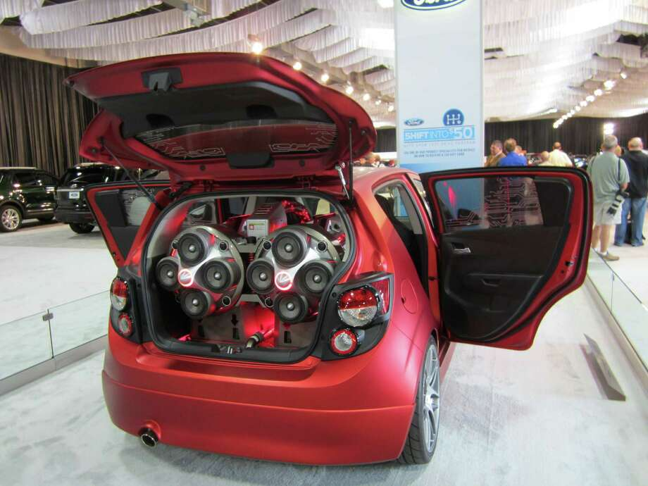 The trunk of a Chevrolet Sonic Boom concept design is seen on Thursday, Sept. 27, 2012, at the State Fair of Texas auto show in Dallas. The design, influenced by that of jet engines, centers on a 4,000-Watt sound system. Photo: Neal Morton, San Antonio Express-News