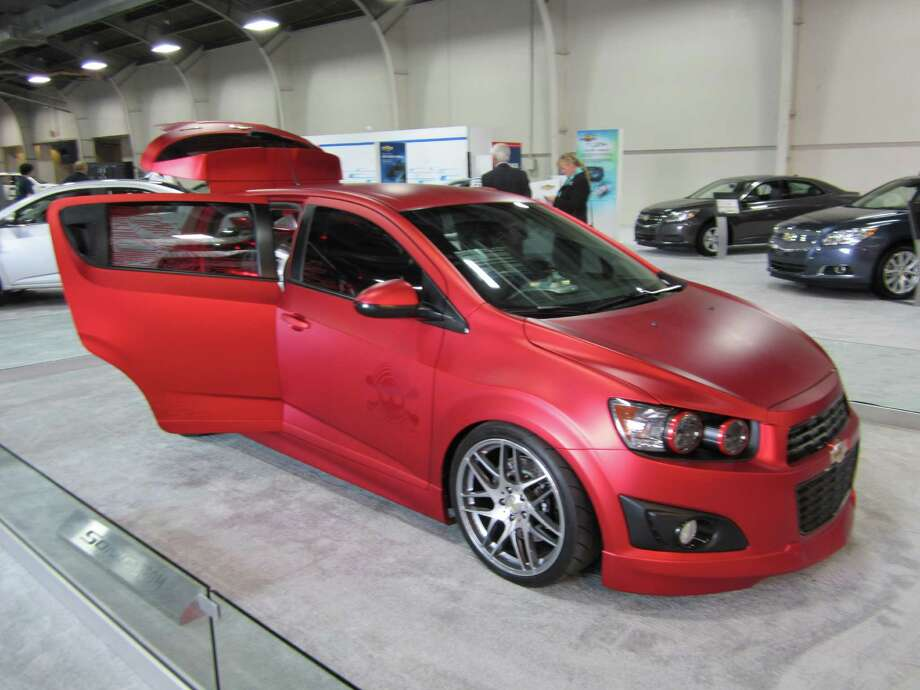 The Chevrolet Sonic Boom concept design is seen on Thursday, Sept. 27, 2012, at the State Fair of Texas auto show in Dallas. The design, influenced by that of jet engines, centers on a 4,000-Watt sound system. Photo: Neal Morton, San Antonio Express-News