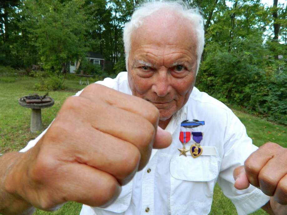 """Sam Brody of Norwalk, now 91, recounts his World War II oddyssey as a Jewish GI captured by the Nazi's in the documentary film """"Sams World: A GI's Journey."""" Photo: Contributed Photo / Westport News contributed"""