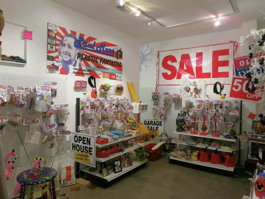 "Artist Paul Horn's ""Paul-Mart"" is a retail installation of objects created by him and other artists. Photo: Deborah Colton Gallery"