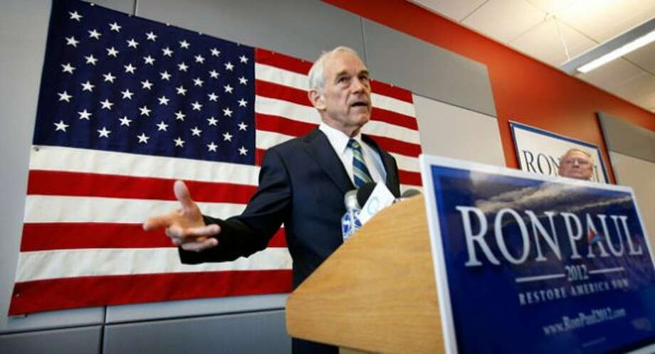 Ron Paul campaigning in Iowa. (Charlie Neibergall / AP)