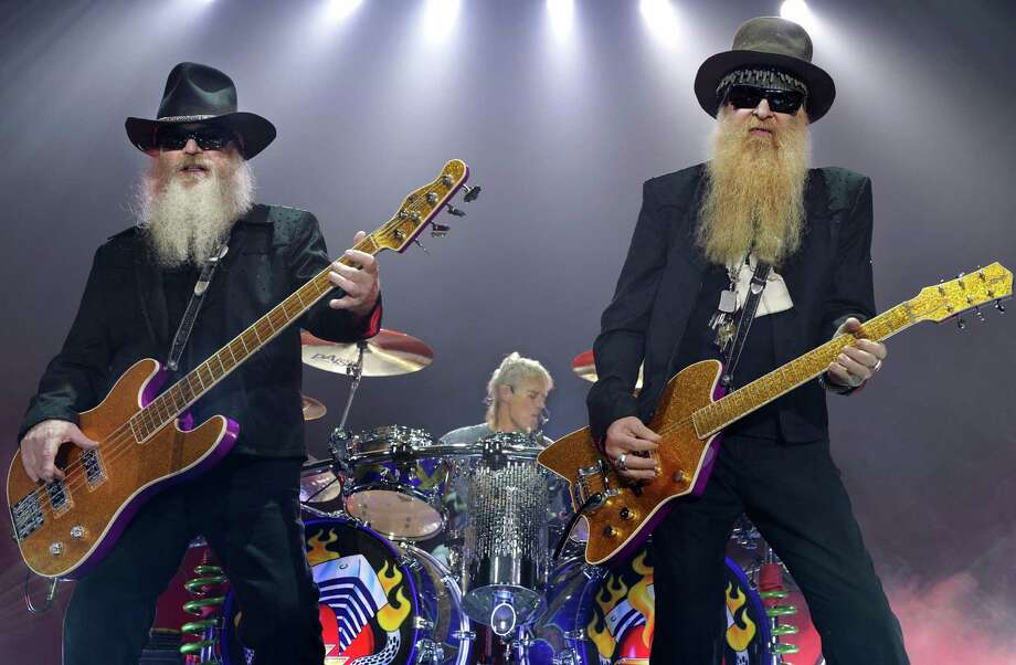 Dusty Hill (L) and guitarist Billy Gibbons of ZZ Top will arrive in San Antonio for two shows at the Majestic Theatre Sunday and Monday. Getty Images Photo: JOERG KOCH, Mysa / 2009 AFP