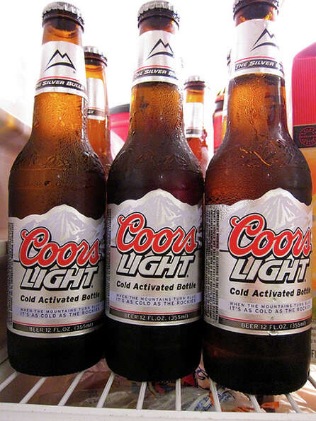 7. Coors Light – Another popular U.S. beer that doesn't make it into the top five. Coors Ligh