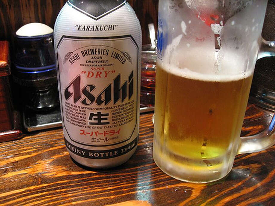 10. Asahi -- The Japanese brewery sold 12.3 million barrels of beer last year, making it the 10th largest beer based on volume. It's the top-selling Japanese lager in the U.K., according to The Drinks Business. (Photo: MikeLeeOrg, Flickr) Photo: DM