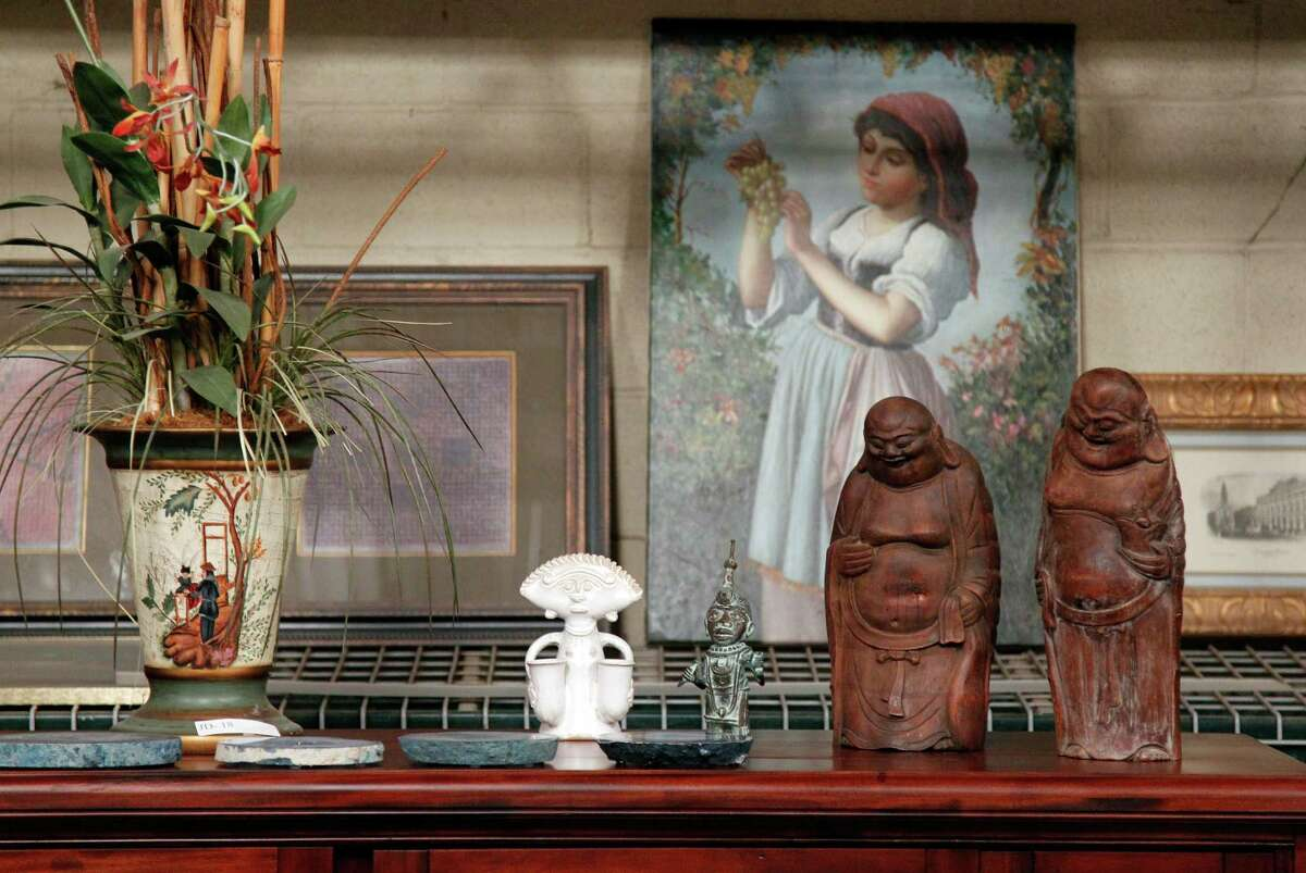 Another collection of items tied to R. Allen Stanford, now serving a 110-year prison sentence for orchestrating a global fraud, hits the auction block this weekend. The lot includes these art pieces and articles from the disgraced financier's estate in Saint Croix, U.S. Virgin Islands.