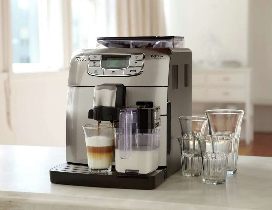 The Saeco Intelia Cappuccino Espresso Machine is a fully programmable espresso bar. Photo: Courtesy, Williams Sonoma / Williams Sonoma