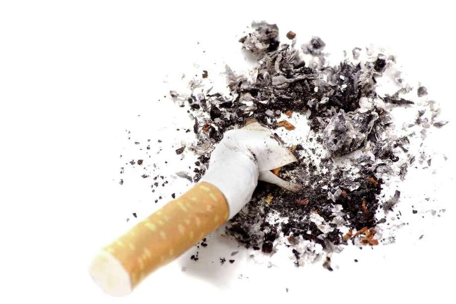 Anti-smoking campaign design: cigarette butt ASHES / 4756185