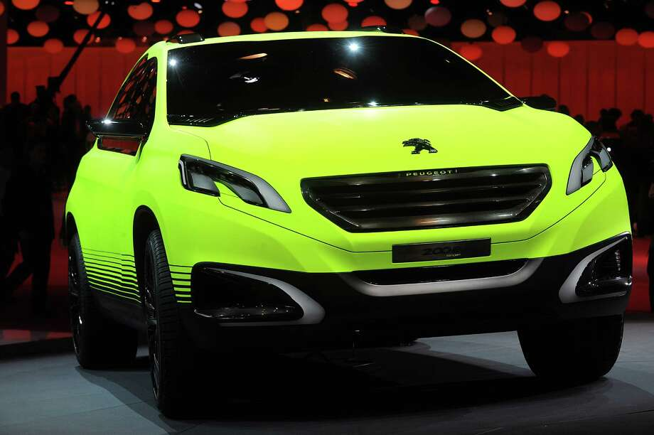 A Peugeot 2008 car sits on display at the Paris Motor Show on Sept. 27, 2012.  Photo: Antoine Antoniol, Getty Images / 2012 Getty Images