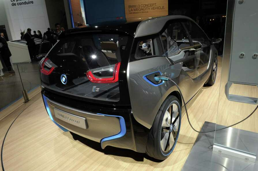 A BMW i3 concept car is presented during the press days ahead of the opening of the Paris Motor Show