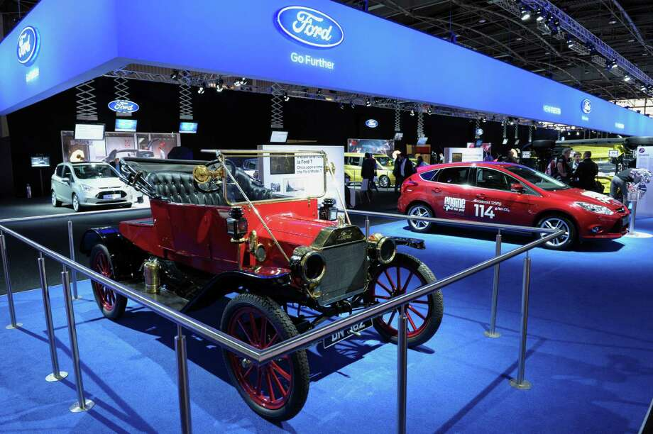 A Ford model T  is presented on the Ford stand during the press days ahead of the opening of the Paris Motor Show on Sept. 27, 2012. Photo: AFP, AFP/Getty Images / 2012 AFP