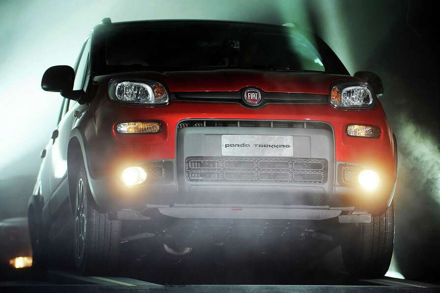 A Fiat Panda Trekking is seen during a presentation at the Paris Motor Show on Sept. 27, 2012.