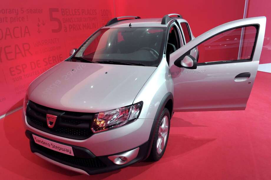 The Dacia Sandero Stepway is presented during the press days at the Paris Motor Show on Sept. 28, 2012. Photo: AFP, AFP/Getty Images / 2012 AFP