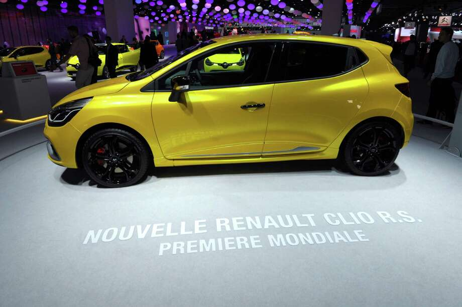 The new Renault Clio R.S. is presented during the press days at the Paris Motor Show on Sept. 28, 2012. Photo: AFP, AFP/Getty Images / 2012 AFP