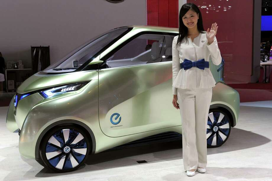 The Nissan Pivo 3 concept car is presented during the press days at the Paris Motor Show on Sept. 28, 2012. Photo: AFP, AFP/Getty Images / 2012 AFP