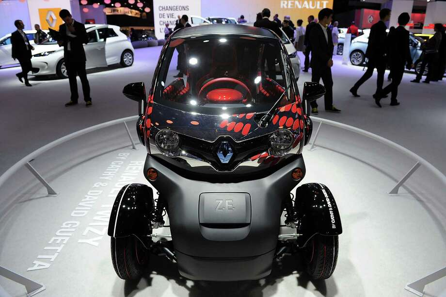 A Renault Zoe Z.E. electric car sits on display at the Paris Motor Show on Sept. 28, 2012. Photo: Antoine Antoniol, Getty Images / 2012 Getty Images