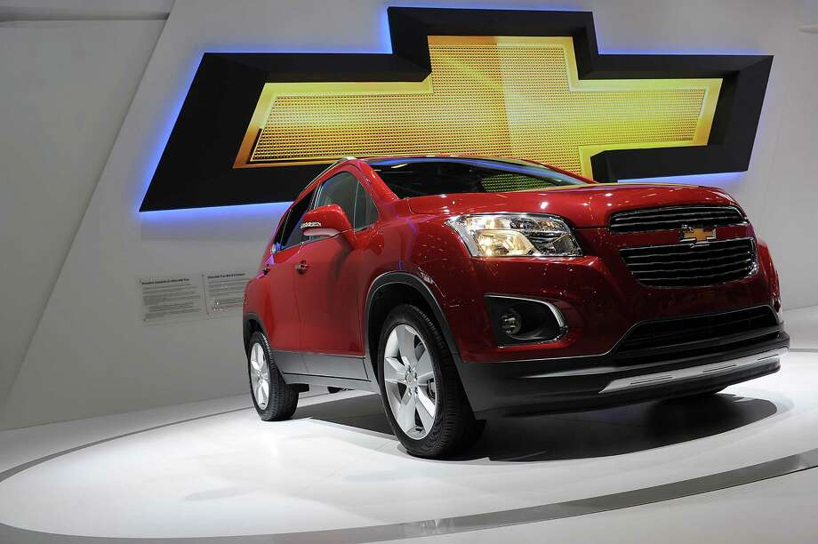 PARIS, FRANCE - SEPTEMBER 28:  A Chevrolet Trax car sits on display at the Paris Motor Show on September 28, 2012 in Paris, France. The Paris Motor Show runs September 29 - October 14. Photo: Antoine Antoniol, Getty Images / 2012 Getty Images