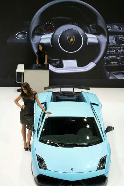 A Lamborghini Gallardo LP-560-4is displayed during the press days of the Paris Motor Show on Sept. 2
