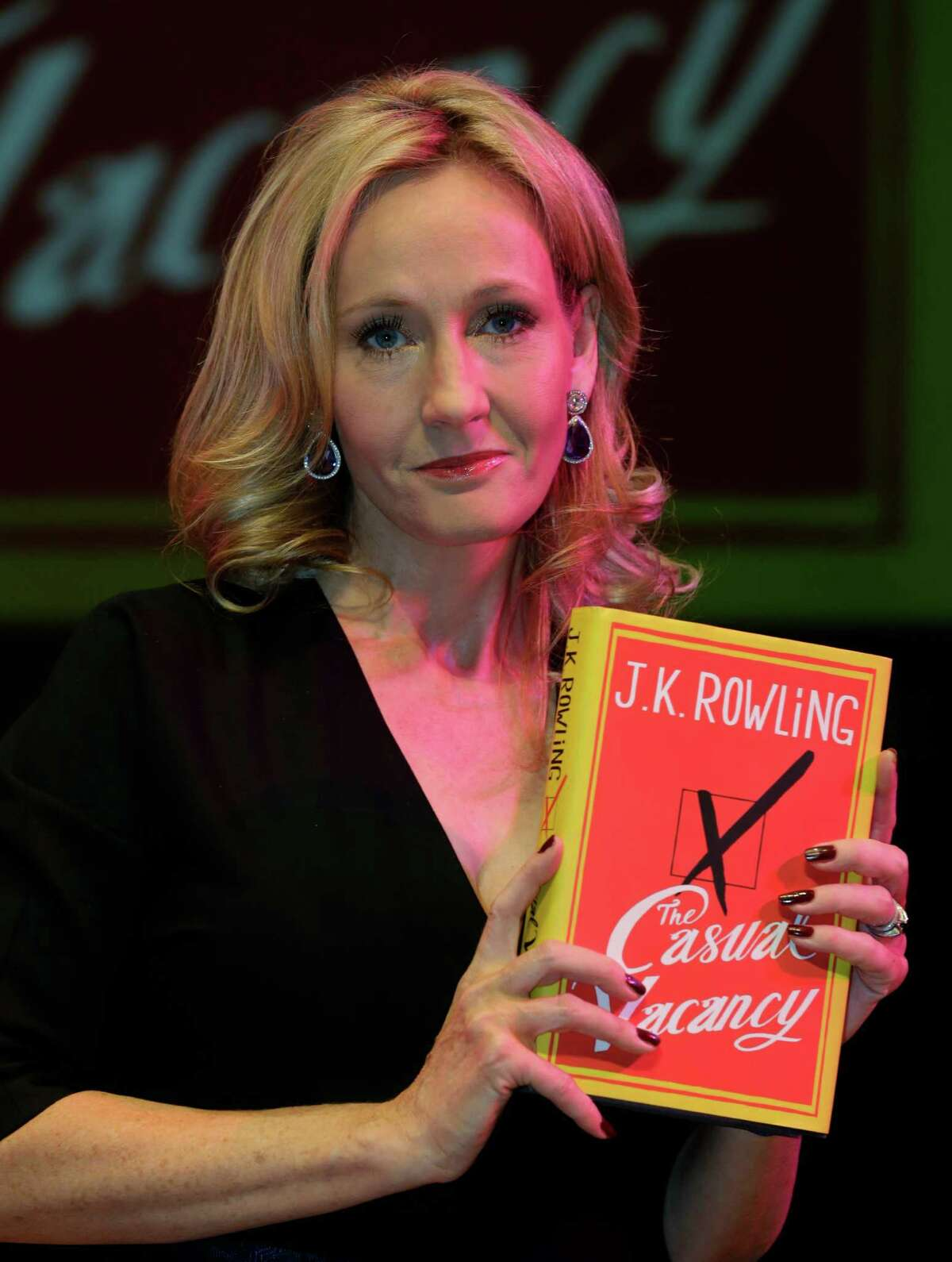 British writer J.K. Rowling with her first novel for adults.