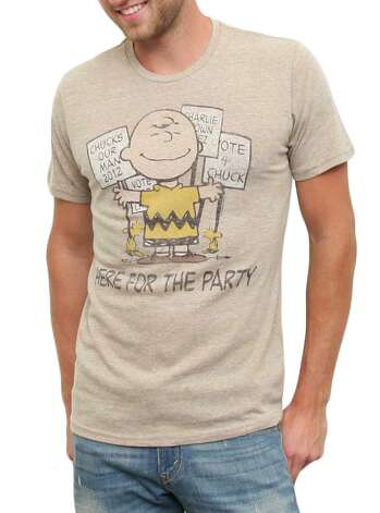 """You're a good candidate, Charlie Brown."" Photo: Junk Food Clothing"
