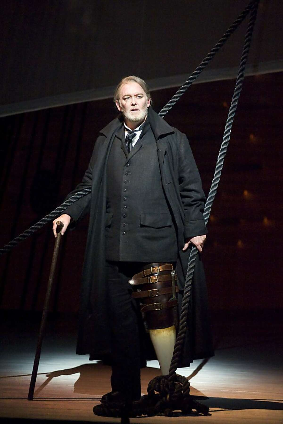 """Jay Hunter Morris as Captain Ahab in Jake Heggie's opera """"Moby Dick."""" State Opera of South Australia. He will play the role at San Francisco Opera."""