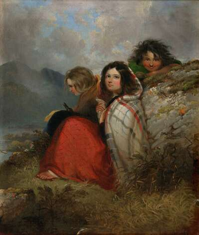 """Irish Peasant Children,"" an oil on canvas, was completed at the height of the Irish famine in 1847, representing the three faces of Ireland: ""the beautiful, the mischievous and the dangerous."" The painting is a major work featured at Ireland's Great Hunger Museum at Quinnipiac University. Photo: Contributed Photo"
