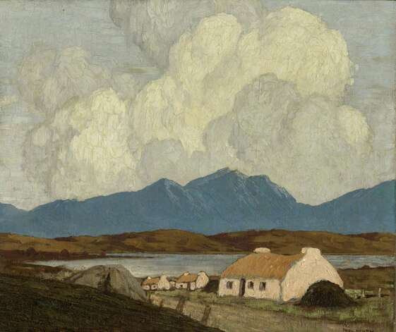 "Paul Henry's ""Cottages, West of Ireland,"" an oil on canvas from 1928-30, is featured at the new Ireland's Great Hunger Museum at Quinnipiac University. Photo: Contributed Photo"