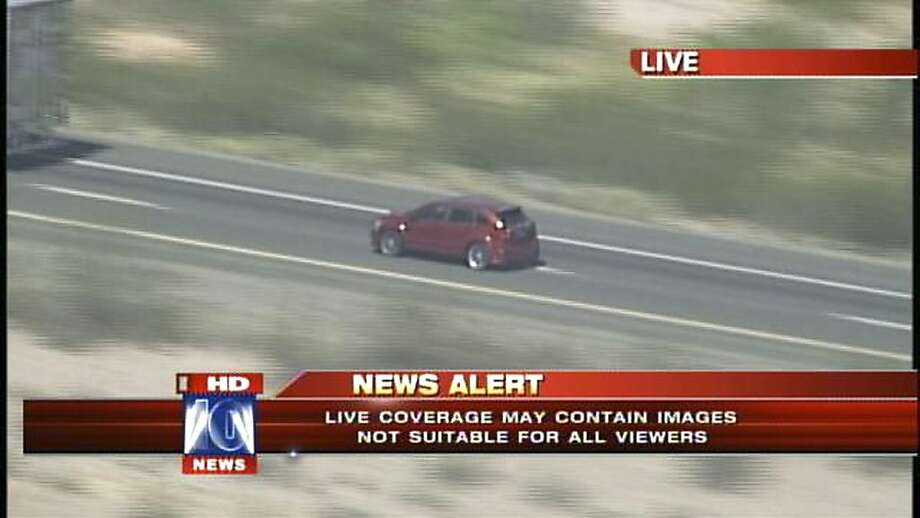 Fox News Channel picked up this chase of a car-theft suspect from its Phoenix affiliate and aired it live nationwide. Photo: Associated Press